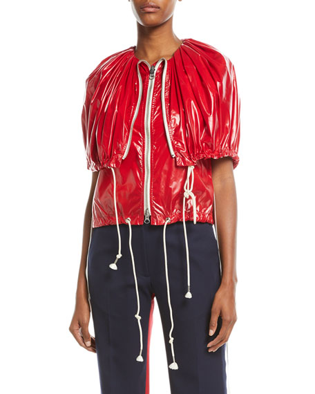 CALVIN KLEIN 205W39NYC Fold-Over Zip-Front Nylon Vest