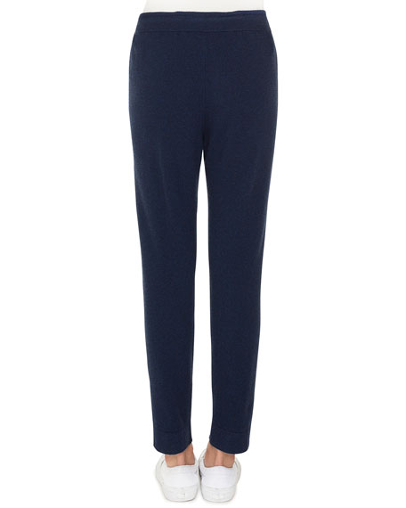 Drawstring Cashmere-Silk Lounge Pants