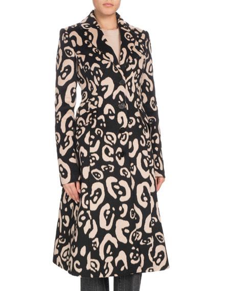 Altuzarra Leopard-Print Button-Down Wool Coat