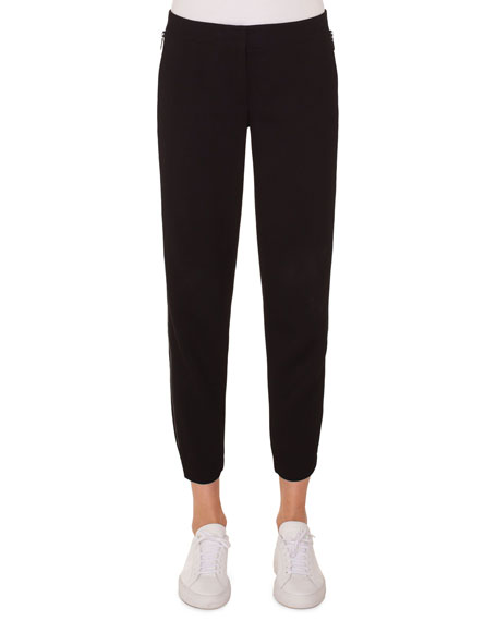 Milla High-Waist Straight-Leg Ankle Wool Pants