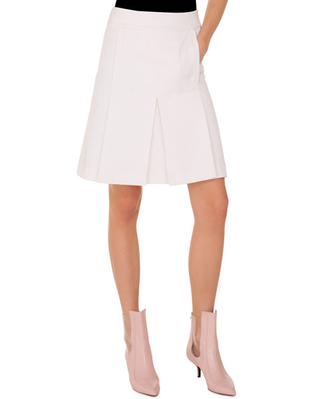 A-Line Tricot Skirt with Side-Seam Pockets
