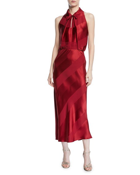 Zac Posen Sleeveless Bias-Cut Cocktail Dress