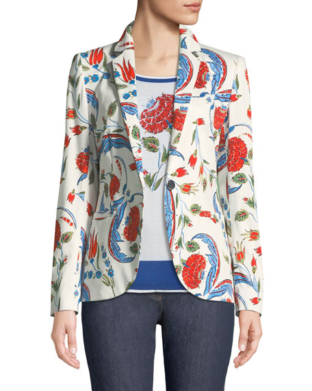 Escada Iznik Pottery-Print One-Button Blazer and Matching Items