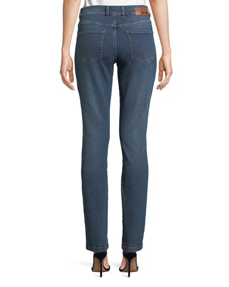 Five-Pocket Narrow Straight-Leg Jeans