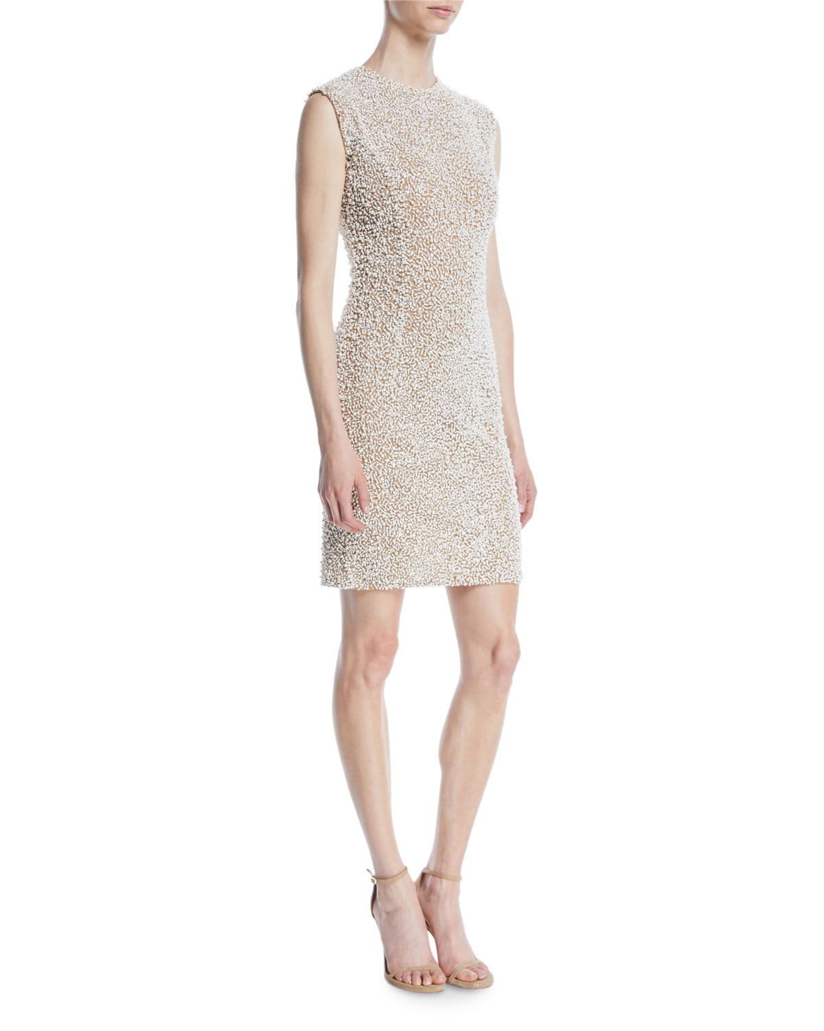 292219fb1a79 Michael Kors Collection Sleeveless Stretch-Tulle Crystal-Embroidered  Cocktail Dress