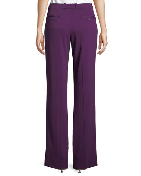 Straight-Leg Cady Tab Pants