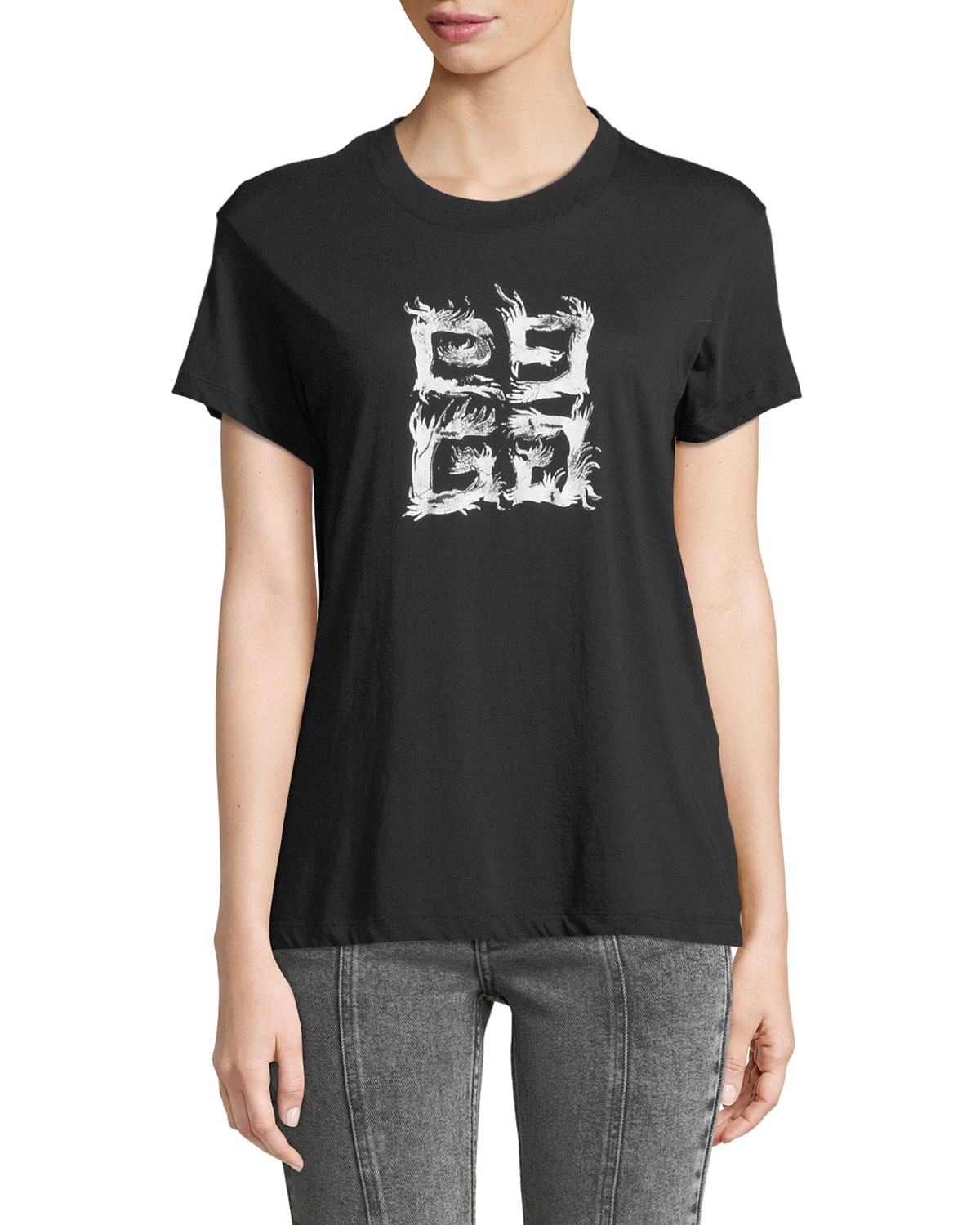 0759a24a Givenchy Fitted 4G Logo T-Shirt | Neiman Marcus
