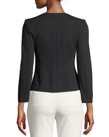 Kate Zip-Front Sunburst Jersey Jacket