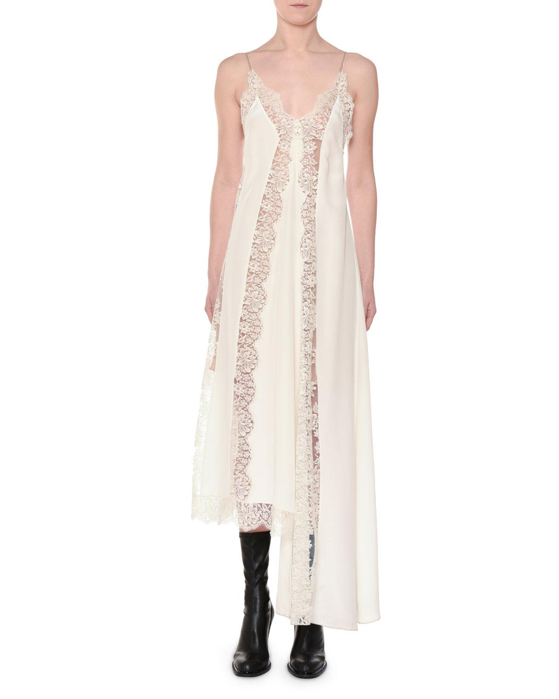 Stella McCartney Angie Marocaine V-Neck Sleeveless Silk Lace Cami ...