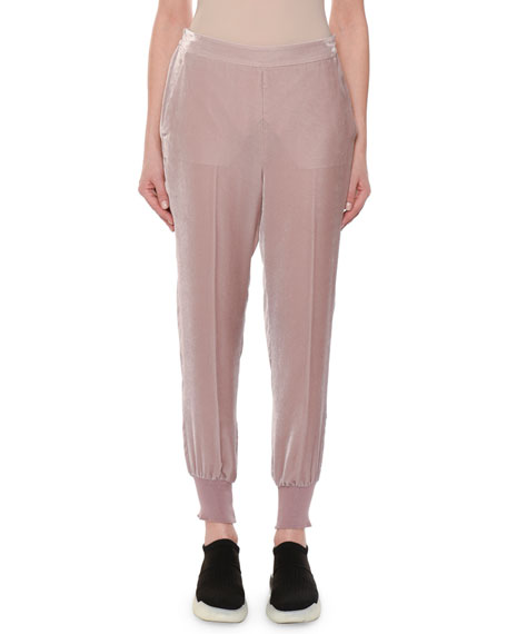 Stella McCartney Velvet Pull-On Jogger Pants