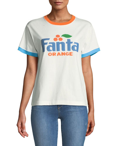 Fanta® Orange Short-Sleeve Crewneck Cotton T-Shirt