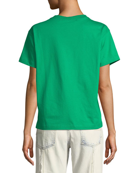 Sprite® Sequin Crewneck Short-Sleeve Cotton T-Shirt