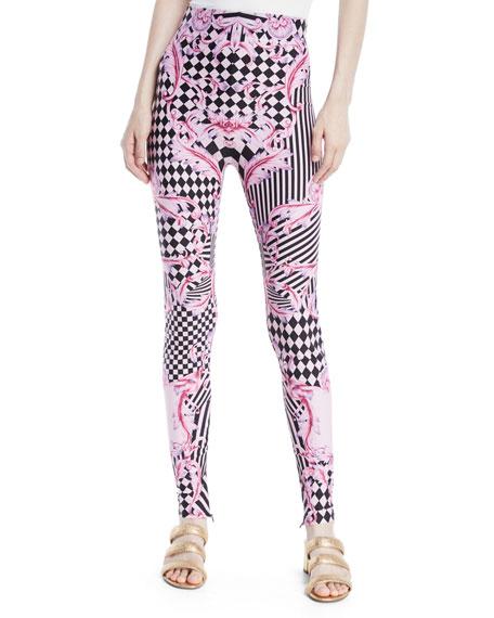 Harlequin-Print Leggings