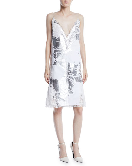 Andy Warhol Metallic Digital-Print Cami Dress