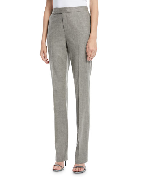 Cameron Straight-Leg Virgin Wool Pants