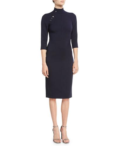 Matilda Turtleneck 3/4-Sleeve Wool Midi Dress. Add to Favorites Add to  Favorites. Quick Look. Ralph Lauren Collection