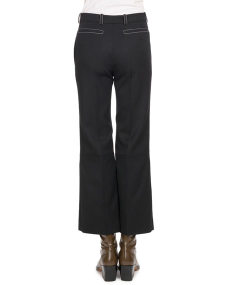 Image 2 of 2: Ankle-Length Flare Wool Pants