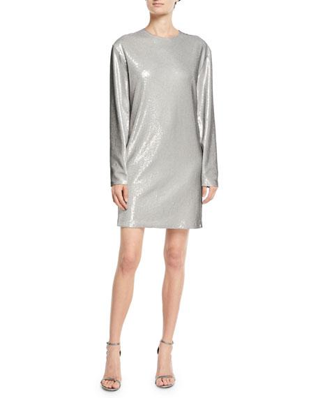 Ralph Lauren Collection Sondra Long-Sleeve Beaded Shift Dress
