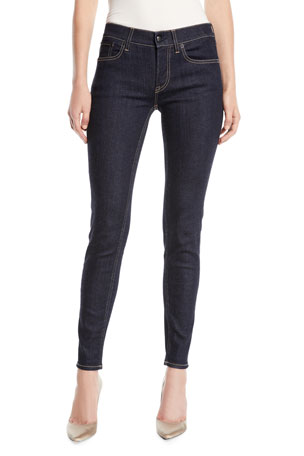 Ralph Lauren Collection 400 Mid-Rise Five-Pocket Skinny Jeans