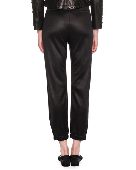 Pull-On Viscose Jersey Cropped Jogger Pants