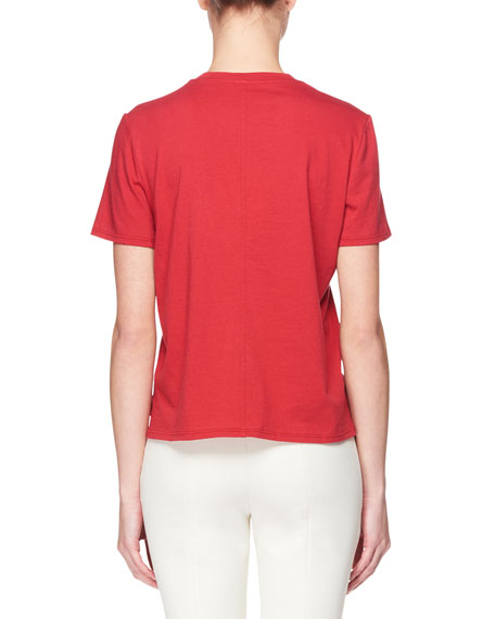 Sofia Crewneck Short-Sleeve Cotton Top