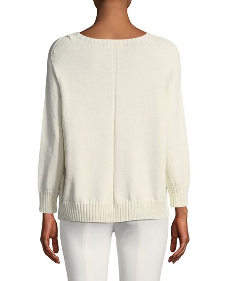 Rio Long-Sleeve Relaxed Cotton-Silk Sweater