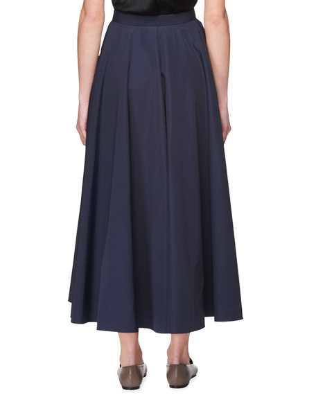 Saga Long Pleated A-Line Skirt