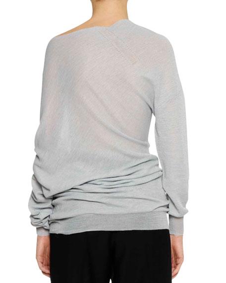 Long-Sleeve Twisted Alpaca-Blend Tunic