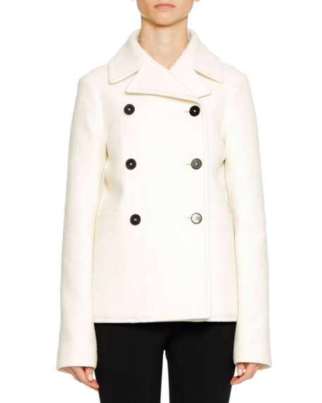 Six-Button Wool Pea Coat