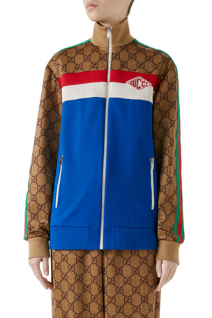 Gucci GG Technical Zip-Up Track Jacket