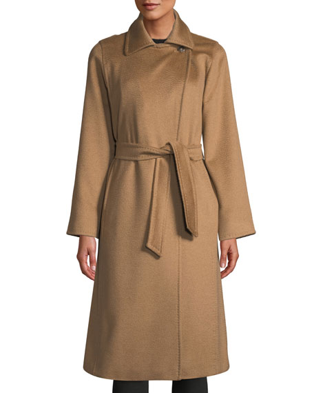 Maxmara Manuela Belted Camel Hair Coat, Camel