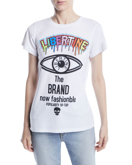 Brand Now Fashionable Photo Graphic-Print Crewneck Tee