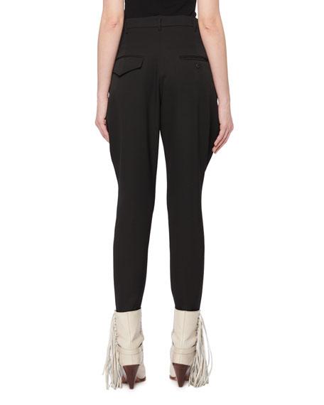 Isabel Marant Raith Flared-Pocket Skinny-Leg Wool Jodhpur Pants
