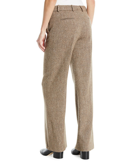 Adam Wide-Leg Tweed Pants