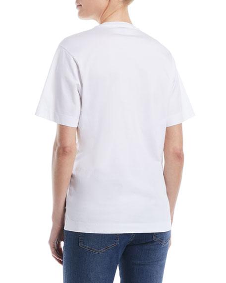 Crewneck Short-Sleeve Cotton Tee w/ Tonal Embroidered Logo