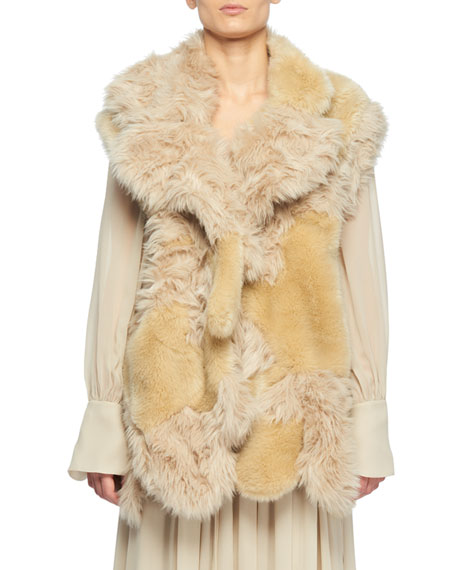 Faux-Fur Patchwork Vest
