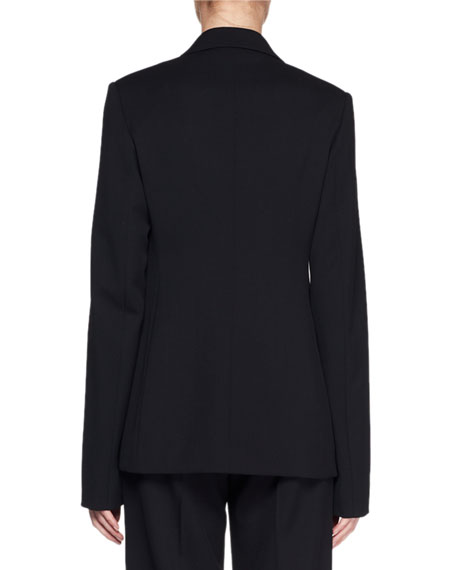 Naycene One-Button Wool Jacket