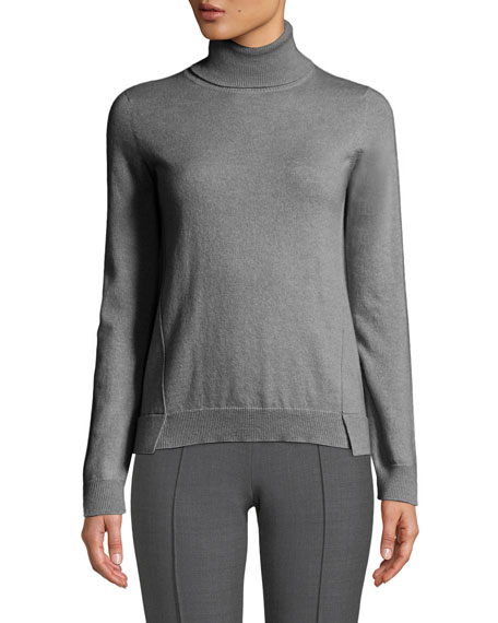 Agnona Eternals 12-GG Cashmere Geo-Slit Turtleneck Sweater and