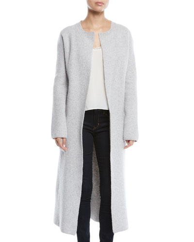 Koffi Long Belted Wool-Cashmere Duster Cardigan