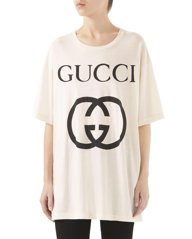 f00a74e4beaa Gucci Short-Sleeve Interlock GG-Logo Cotton Jersey T-Shirt | Neiman ...