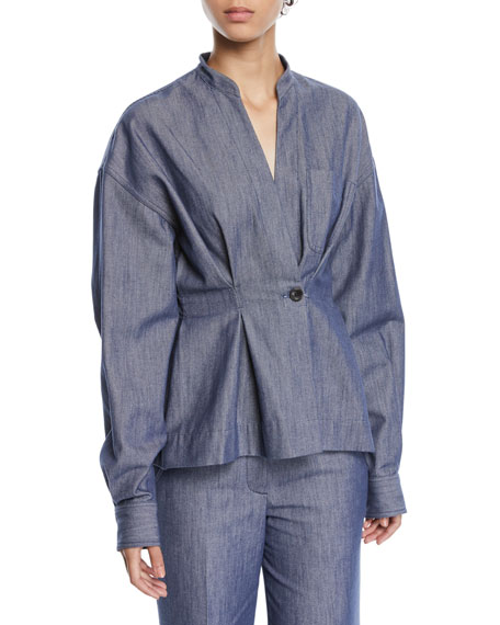 Derek Lam Long-Sleeve Denim Shirt