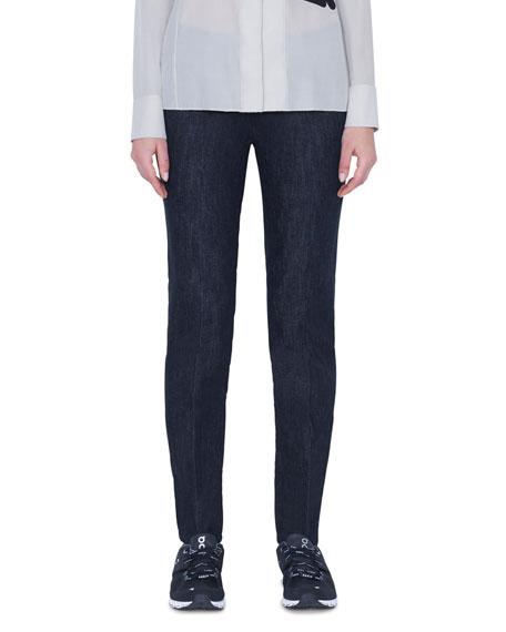 Akris Magda 5-Pocket Slim Stretch Denim Pants