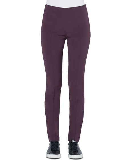 Akris Melissa Slim Stretch Silk Crepe Pants