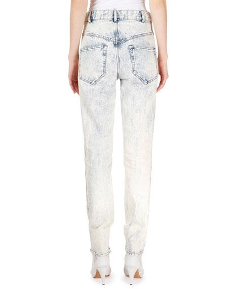 Isabel Marant Lorricka Acid-Washed High-Waist Skinny Jeans