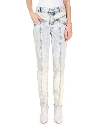 Lorricka Acid-Washed High-Waist Skinny Jeans