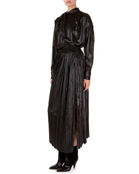 Isabel Marant Demmo Long-Sleeve Liquid-Look Tunic