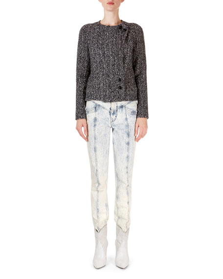 Isabel Marant Helba Asymmetric Boucle Jacket