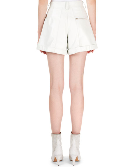 Isabel Marant Cedar High-Waist Cuffed Leather Shorts
