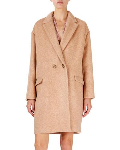 Filipo Long Two-Button Wool-Cashmere Coat