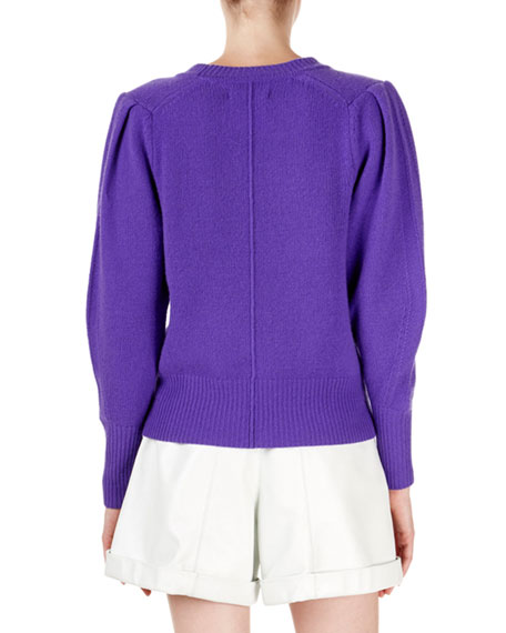 Isabel Marant Conway Cashmere Puff-Sleeve Sweater